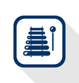 xylophone flat icon vector image