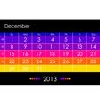 2013 December vector image vector image