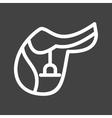 Saddle vector image