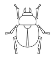 Scarab beetle icon outline style vector image
