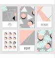 Abstract Design Cards Set vector image vector image