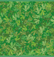Seamless background oak leaves vector image