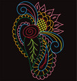sketching ornament vector image vector image