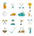 Golf icons set vector image vector image