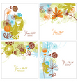 set of floral illustration vector image