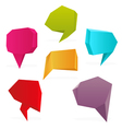 polygon speech bubbles vector image vector image