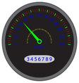 Speedometer dashboard device vector image