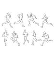 running set vector image