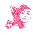 Abstract Woman portrait vector image