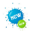 Blue and Green New Splashes Blots vector image
