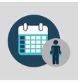 business silhouette man calendar planning vector image