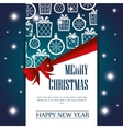 card merry christmas and new year design isolated vector image