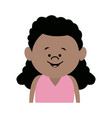 cartoon little girl young female person vector image