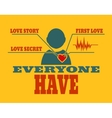 love relative template for Valentines Day vector image