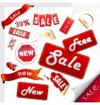 set of sale icons stickers vector image