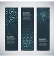Banners with abstract colorful random geometric vector