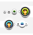 User icon with tooltip vector image