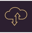 The download and upload to cloud icon vector image