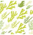 Trendy summer seaweed design vector image