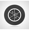 Petri dish black round icon vector image