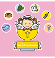 first communion girl vector image vector image