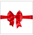 Red bow with horizontal ribbon vector image vector image