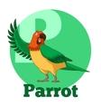 ABC Cartoon Parrot vector image