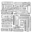 Books Collection Monochrome Inky Outline vector image
