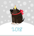 china zodiac dog happy new card vector image