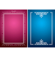 crimson and blue backgrounds with white frames vector image