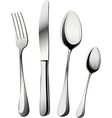 Knife fork and spoons vector image