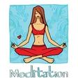 meditation vector image