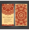 Set retro business invitation card vector image