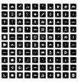 100 development icons set grunge style vector image