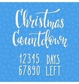 Christmas Countdown lettering typography set vector image
