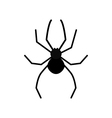 Cute cartoon black spider silhouette poisonous vector image