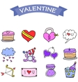 art of object valentine day vector image