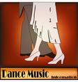 Deco Ballroom Dance vector image vector image