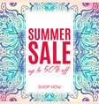 delicate banner sale in ethnic indian style vector image