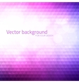 Abstract triangles background with bokeh vector image vector image