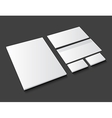 Corporate identity template stationery on dark vector image vector image
