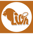 animals logo lion vector image
