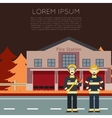 Fire Station Banner1 vector image