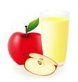 red apple juice vector image vector image