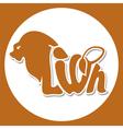 animals logo lion vector image