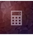 Calculator in flat style icon vector image