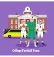 College Football Team Concept Flat Design vector image