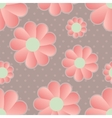 daisy retro background vector image