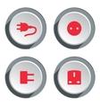 Electric socket base icon set Power energy symbol vector image