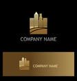 gold cityscape building logo vector image